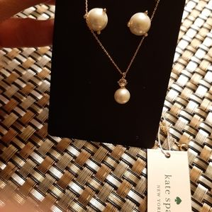 Kate spade pearl earrings and necklace